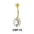 Flower Shaped Belly Piercing CBP-15
