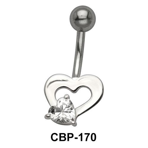 Heart Shaped Belly Piercing CBP-170