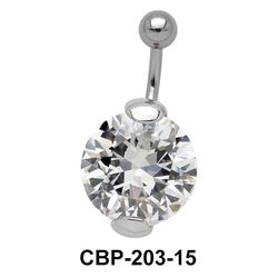 Prong Set Round Brilliant Belly CZ Crystal CBP-203