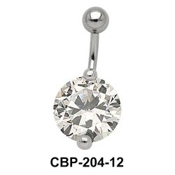 Round Brilliant Prong Set Belly CZ Crystal CBP-204-12