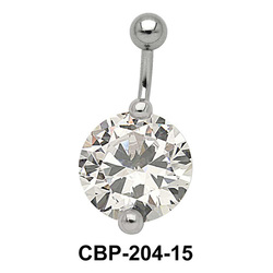 Round Brilliant Prong Set Belly CZ Crystal CBP-204-15