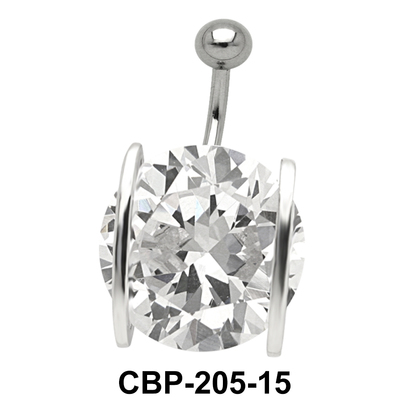 Prong Set Round Brilliant Belly CZ Crystal CBP-205