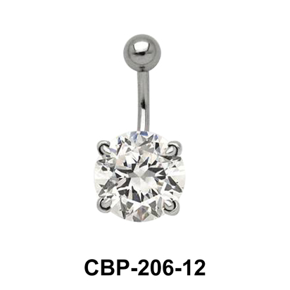Round Brilliant Prong Set Belly CZ Crystal CBP-206-12