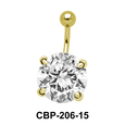 Round Brilliant Prong Set Belly CZ Crystal CBP-206-15