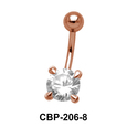 Round Brilliant Prong Set Belly CZ Crystal CBP-206-8