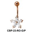Floral Belly CZ Crystal CBP-23
