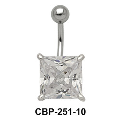 Belly Piercing with Princess Cut CZ CBP-251-10