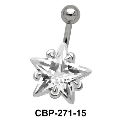 Starry Stone Set Belly CZ Crystal CBP-271