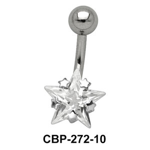 Star Patterned CZ Set Belly Crystal CBP-272-10