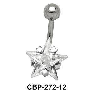 Star Patterned CZ Set Belly Crystal CBP-272-12