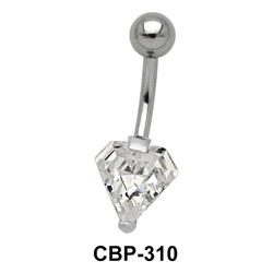 Diamond Stone Set Belly CZ Crystal CBP-310
