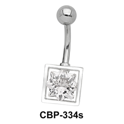 8 Point Star CZ Belly Piercing CBP-334s