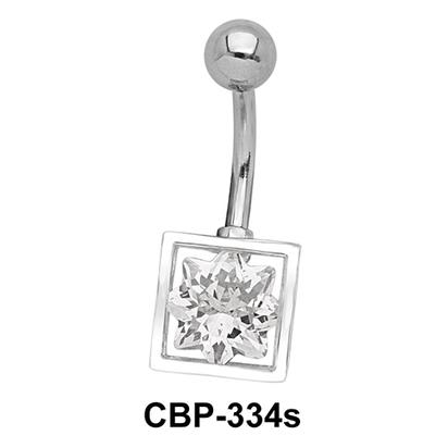 8 Point Star CZ Belly Piercing CBP-334s