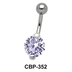 Round Brilliant Stone Belly Button Ring CBP-352