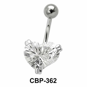 Heart Shaped Belly CZ Crystal CBP-362