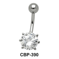 Round Brilliant Belly CZ Crystal CBP-390