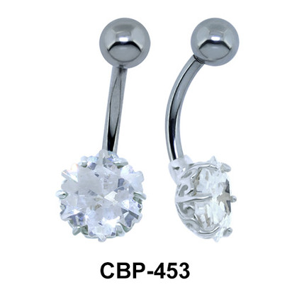 Glittering Stone Belly Button Ring CBP-453