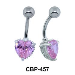Heart CZ Belly Piercing CBP-457