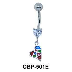 Hearts Dangling Belly Piercing CBP-501E