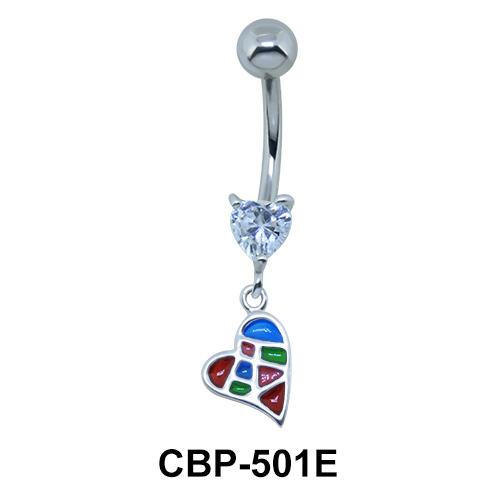 Hearts Dangling Belly Piercing CBP-501E