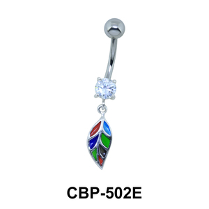 Leaf Dangling Belly Piercing CBP-502E
