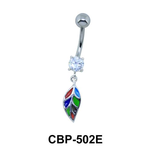 Leaf Dangling Belly Piercing CBP-502E