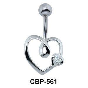 Cute Heart Shaped Belly Piercing CBP-561
