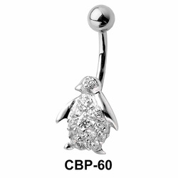 Penguin Bird Belly CZ Crystal CBP-60