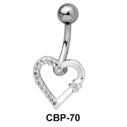 Stone Encrusted Belly Piercing CBP-70