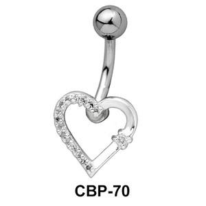 Stone Encrusted Belly Piercing CBP-70