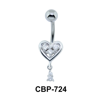 Pink Stone Heart Assorted Belly Piercing CBP-724