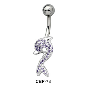 Dolphin CZ Belly Piercing CBP-73