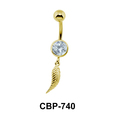 Feather Dangling Belly Piercing CBP-740