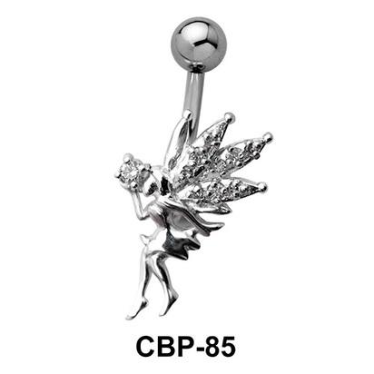 Fairy Shaped Stone Set Belly Piercing CBP-85