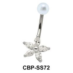 Flower Shaped belly Piercing CBP-SS72