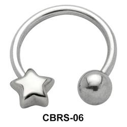 Star Nipple Circular Barbell CBRS-06R