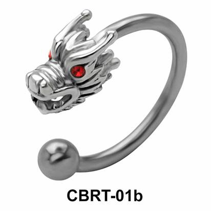 Dragon Belly Piercing Circular Barbell CBRT-01b