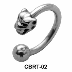 Tiger Face Belly Piercing Circular Barbell CBRT-02