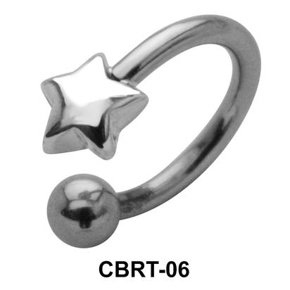 Superlative Star Belly Piercing Circular Barbell CBRT-06