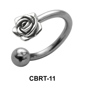 Rose Belly Piercing Circular Barbell CBRT-11