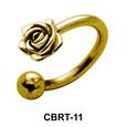 Rose Belly Piercing Circular Barbell CBRT-11