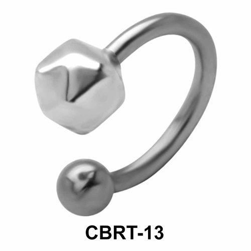 Boulder Belly Piercing Circular Barbell CBRT-13