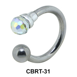 Rainbow Colored Belly Piercing Circular Barbell CBRT-31