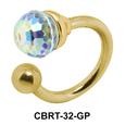 Special Stone Belly Piercing Circular Barbell CBRT-32