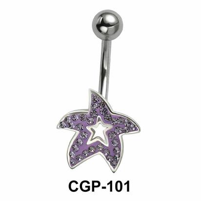 Stone Studded Starfish Rainbow Line CGP-101