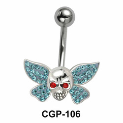 Stone Set Skull n Wings Rainbow Line CGP-106