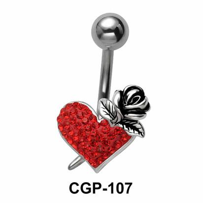Rose and Heart Rainbow Line CGP-107