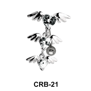 Winged Series of Hearts Shaped Upper Belly Piercing UCRB-21