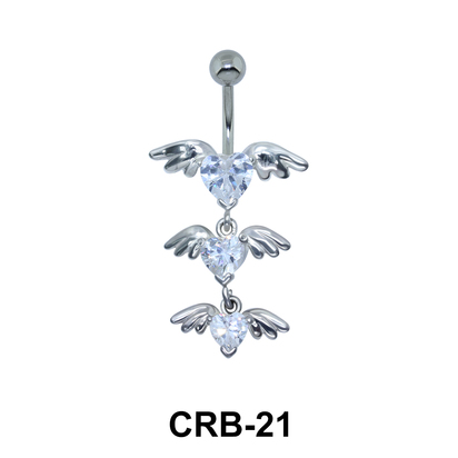 Winged Series of Hearts Shaped Belly Piercing CRB-21