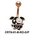 Stone Set Dog Belly Piercing CRTN-01